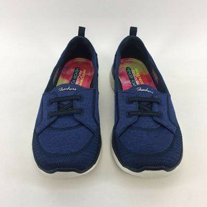 Skechers Womens Microburst Topnotch Sneakers Navy